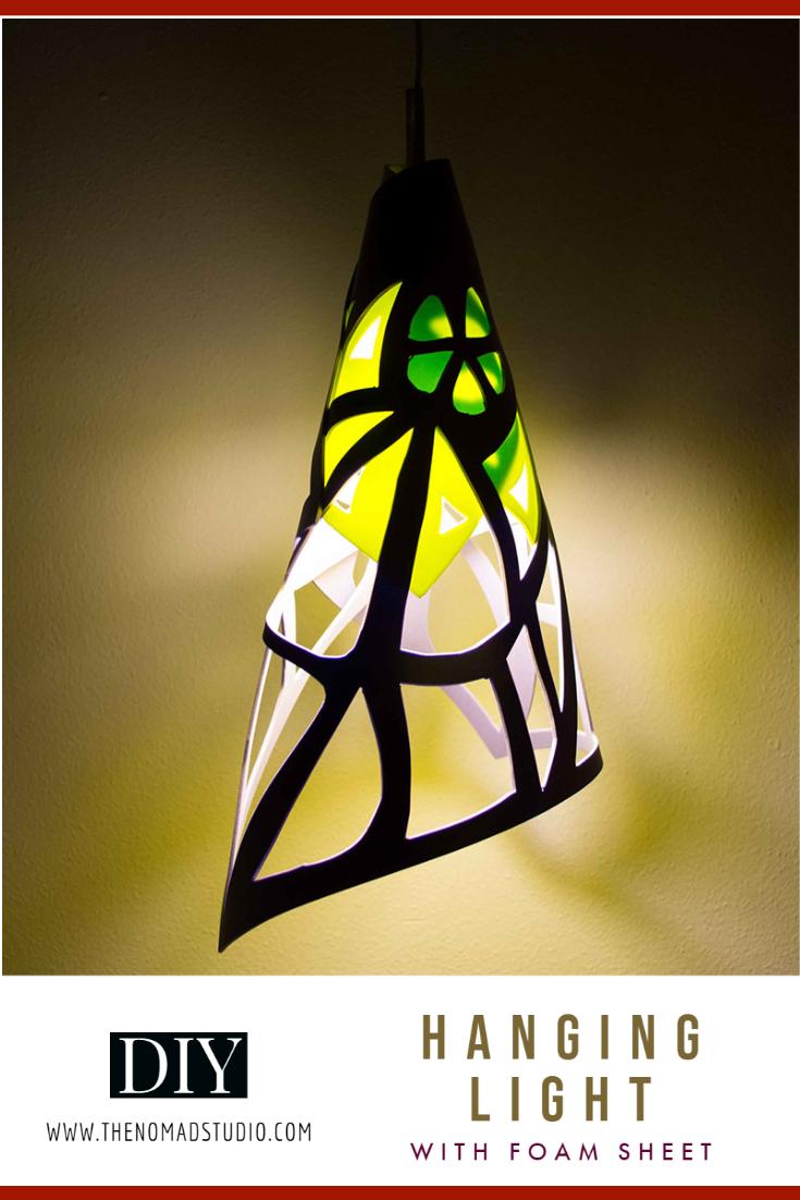 Hanging light using foam sheet