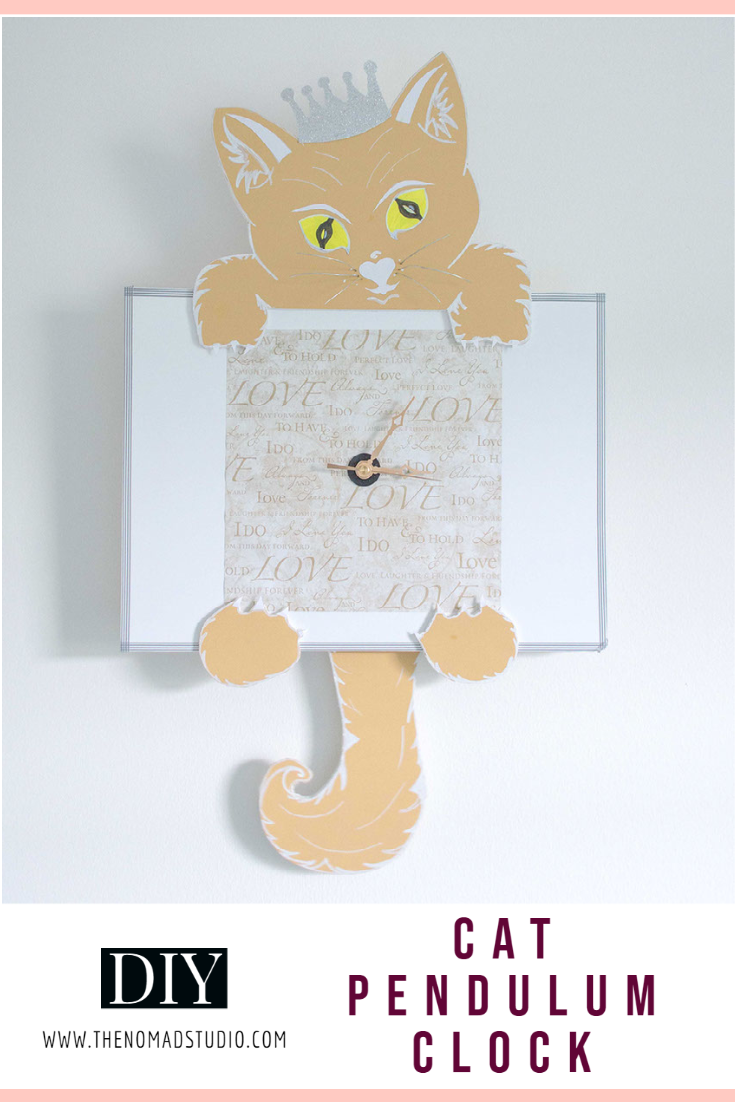 Cat on a wall – Pendulum clock