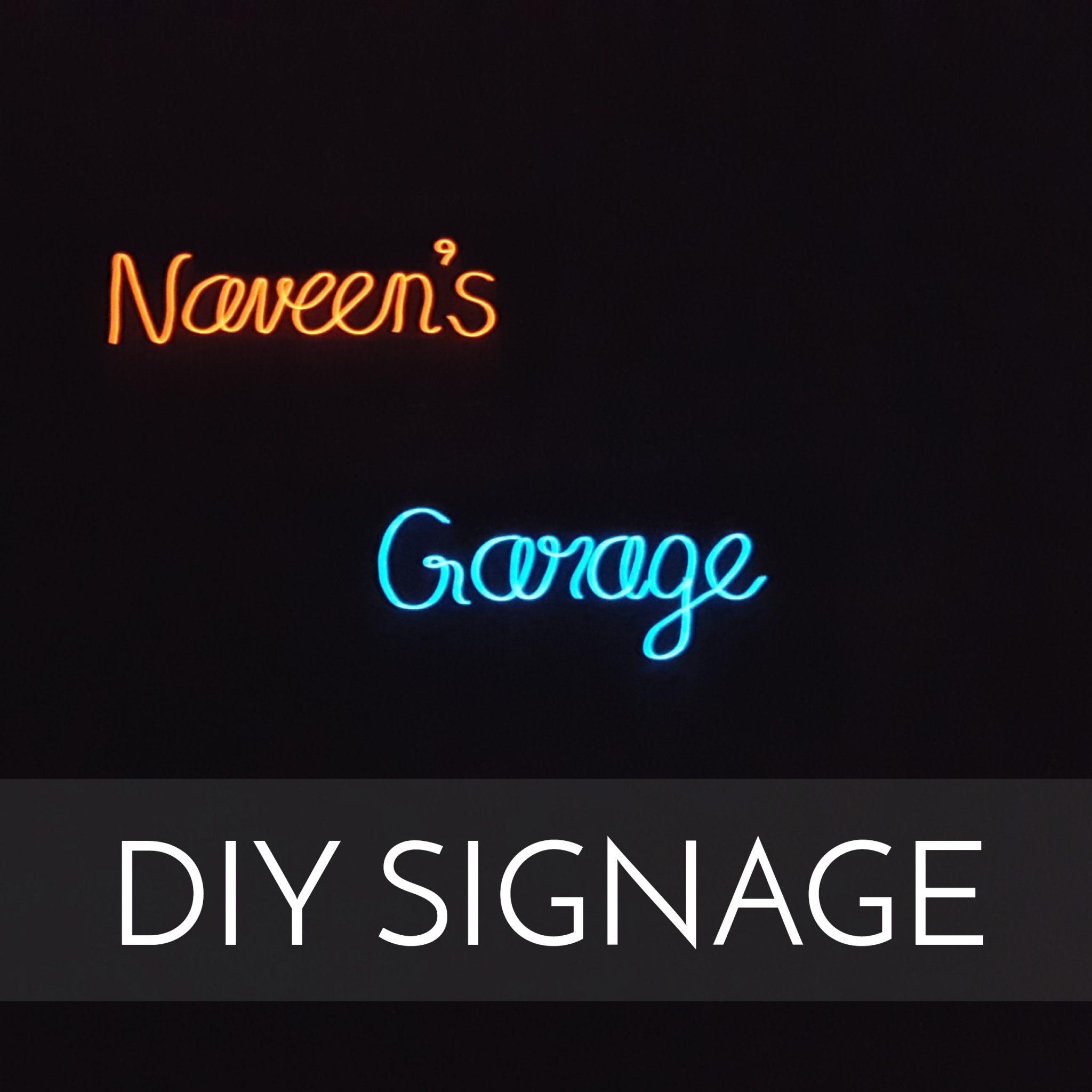Neon signage light