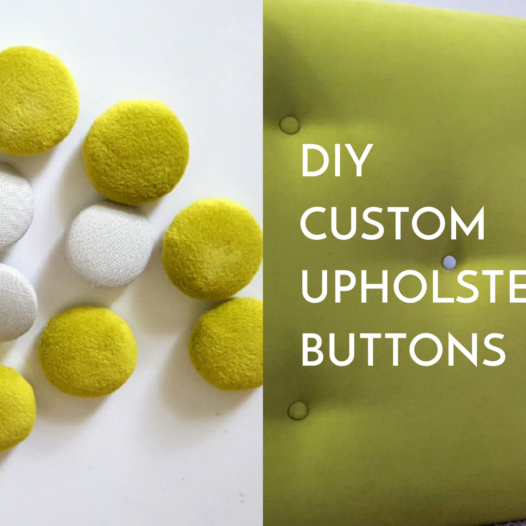 Fabric upholstery button | DIY