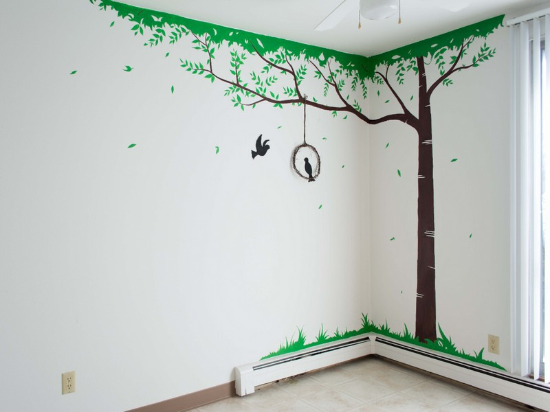 Wall Mural with Acrylic paint