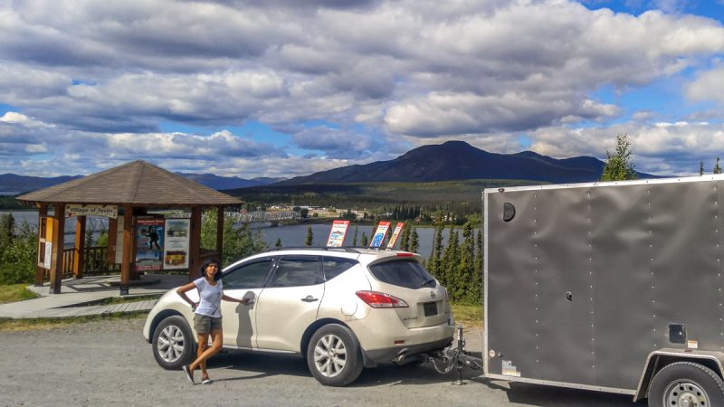 Free overnight parking at Teslin Viewpoint, Yukon, Canada