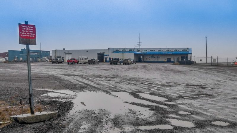 Free overnight parking at Prudhoe Bay Airport, Alaska