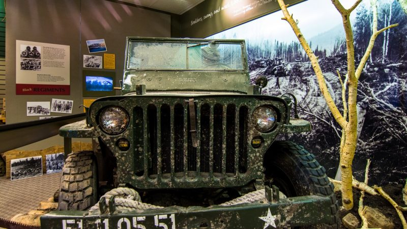 Army jeep @ Alaska Highway House