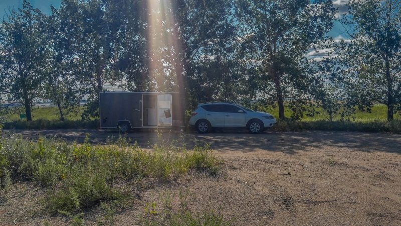Free overnight campground near Innisfree, Alberta