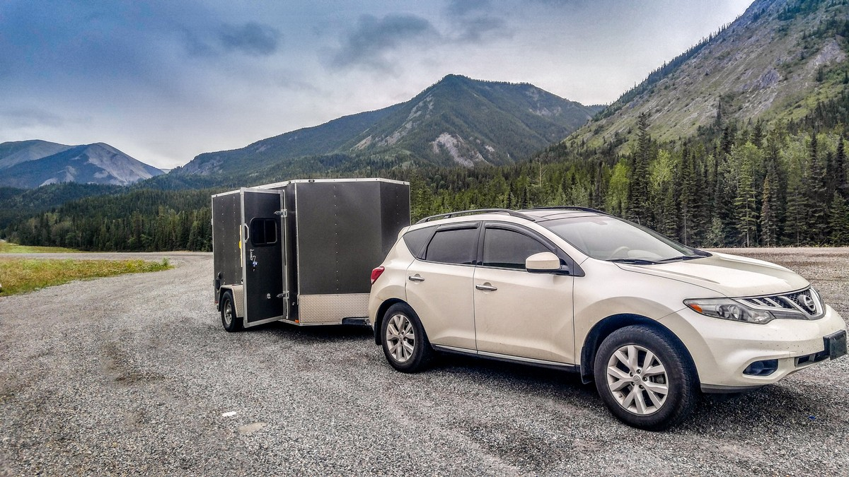 Free overnight parking near Trout River, British Columbia, Canada