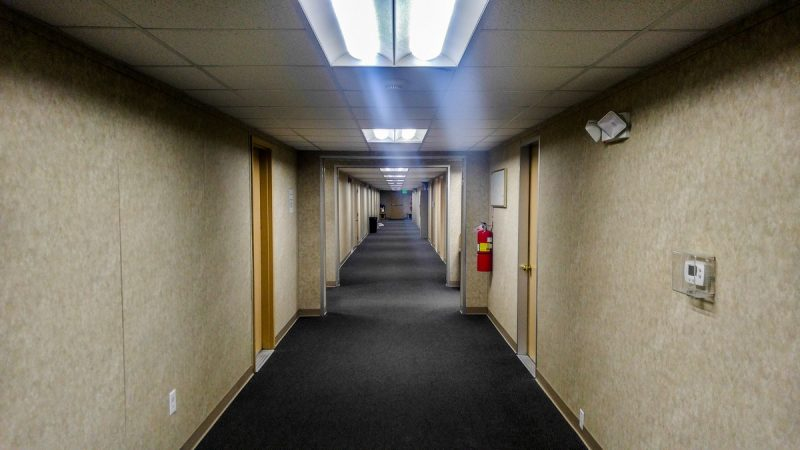 Corridor hall at Prudhoe Bay Hotel Alaska