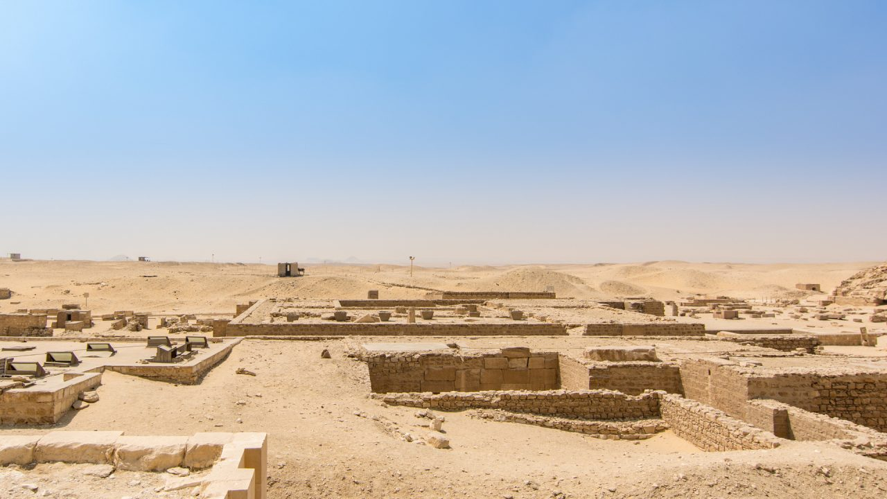 Excavation under progress near south tomb