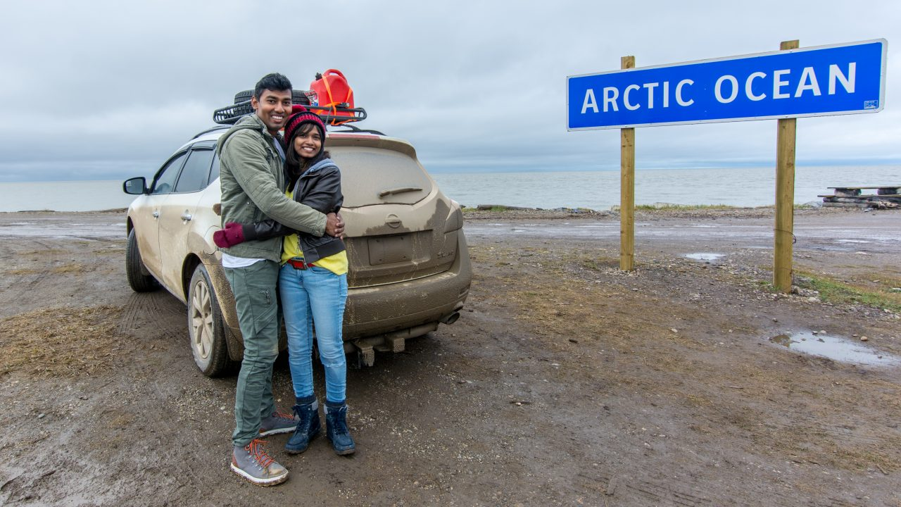 Touch The Arctic Ocean At Tuktoyaktuk | Canada