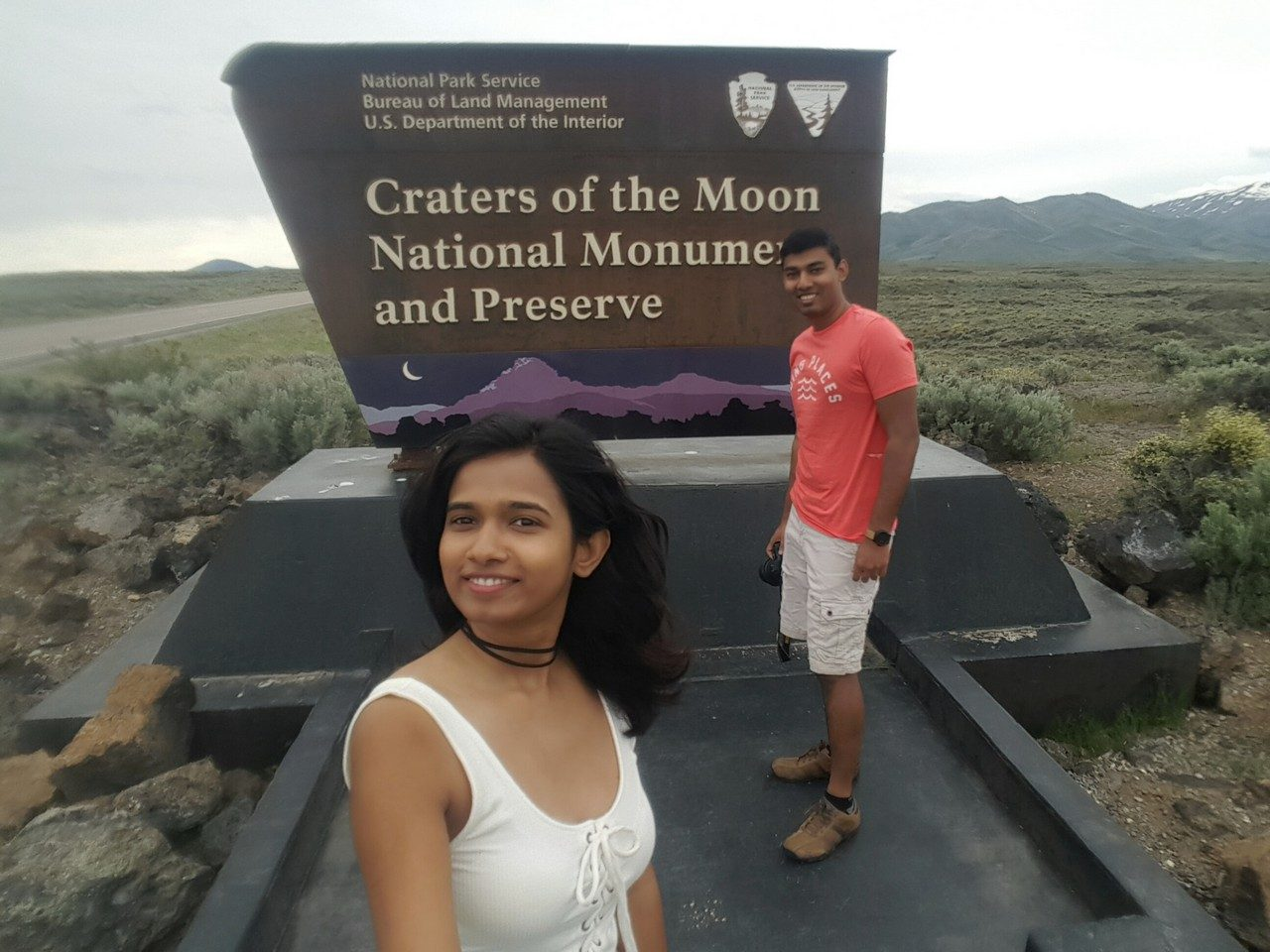 Craters of the moon National monument entrance sign