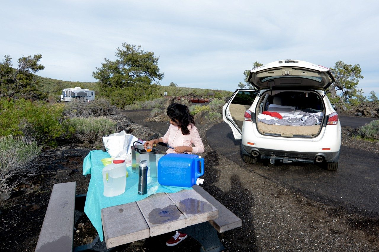 Lava overflow campground Craters of the moon Idaho