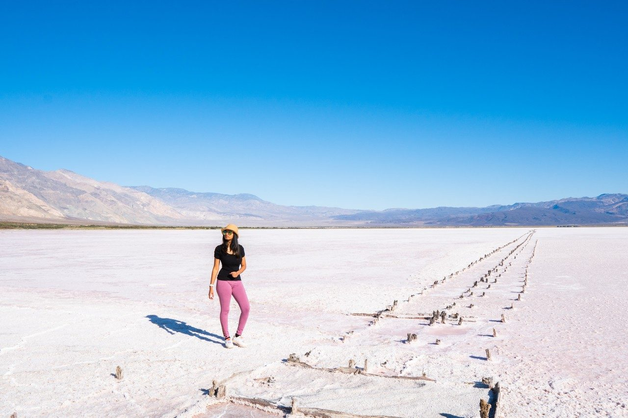 Salt basin in death valley