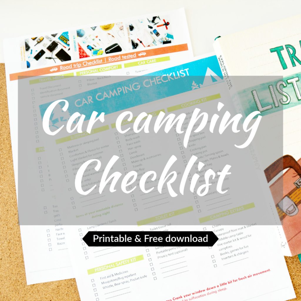Car Camping Essentials Checklist