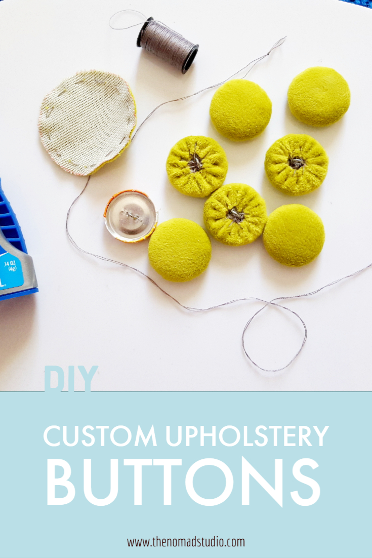 Fabric upholstery button   DIY