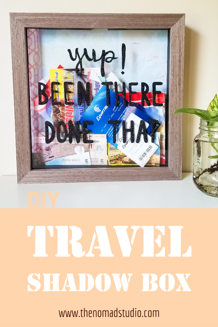 Travel Shadow box – DIY Wall Decor