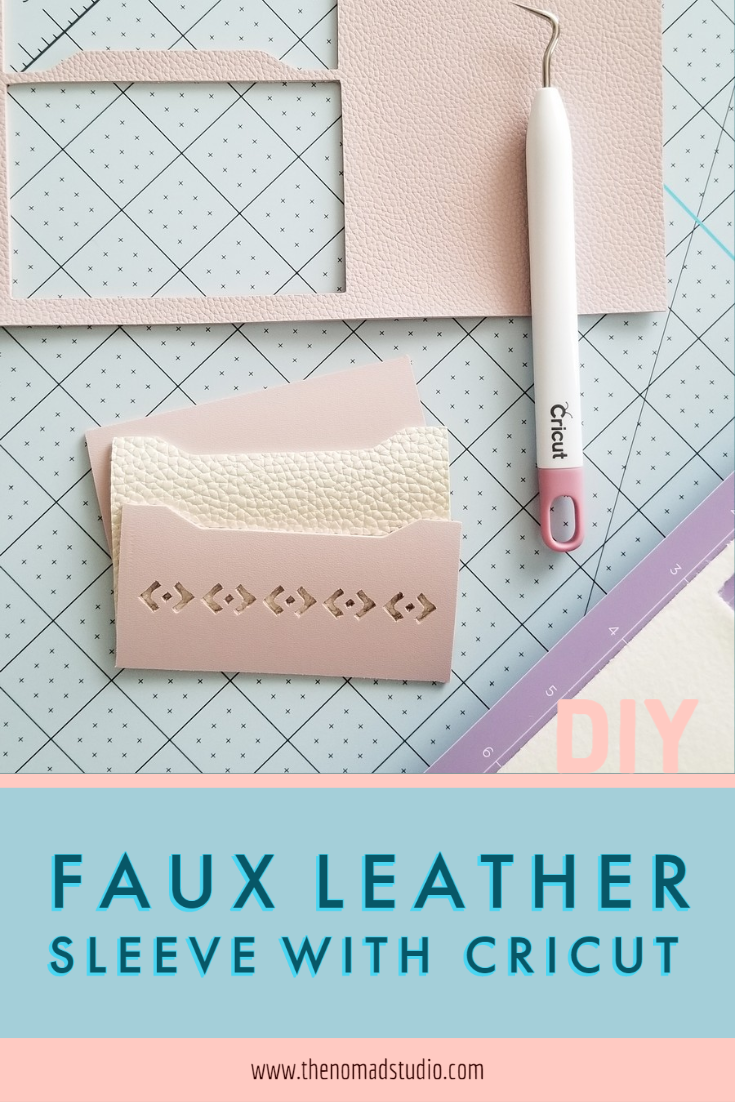 Faux Leather card sleeve – DIY with Cricut