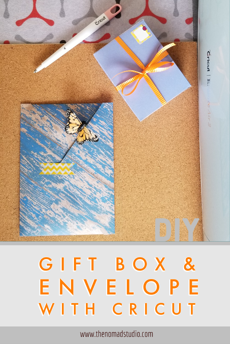 Gift box & Envelope with Cricut – DIY