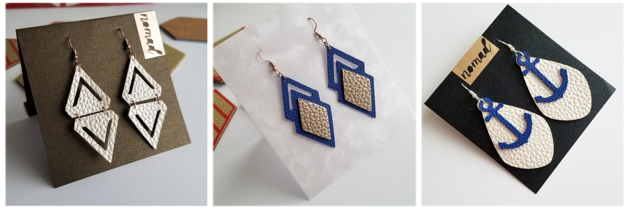 Leather Earrings with Cricut