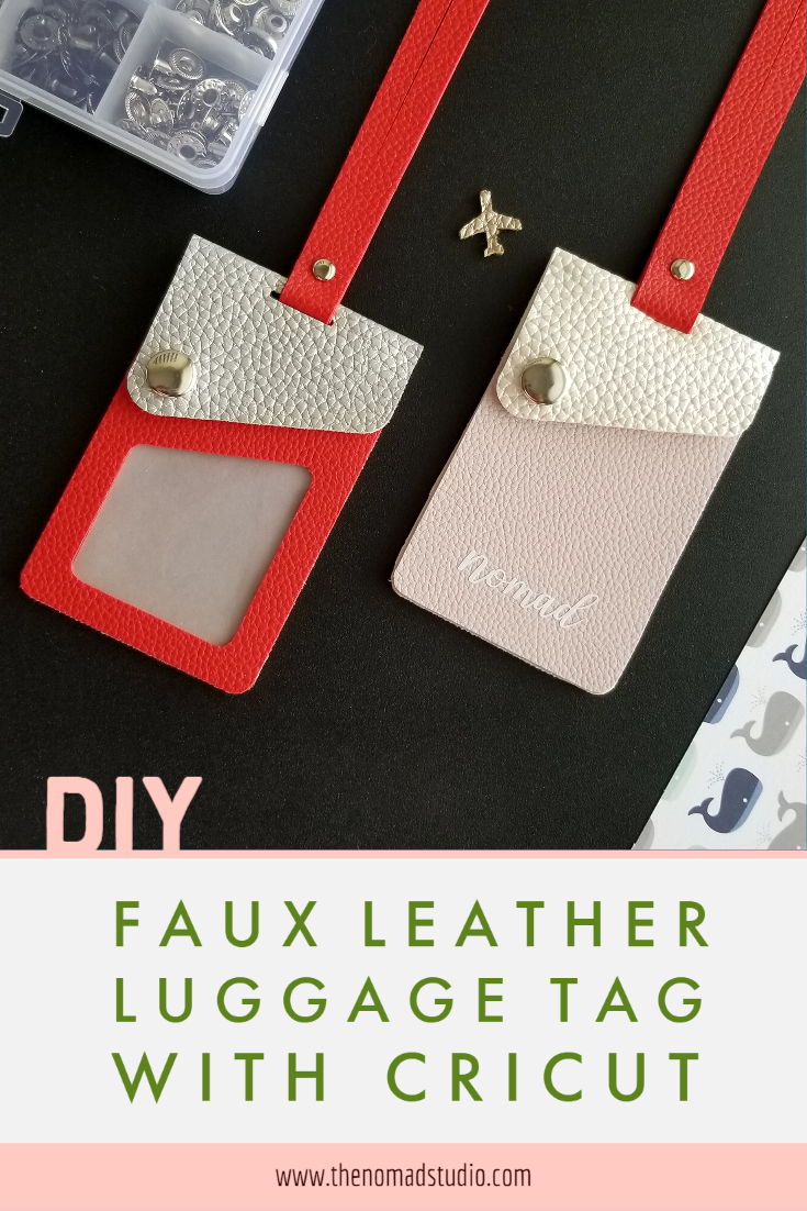 Faux Leather Luggage Tag DIY with Cricut