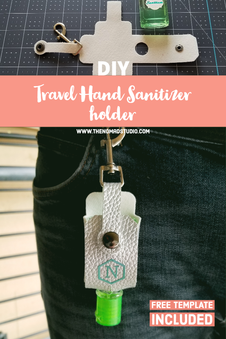Travel Hand Sanitizer holder with Key Ring