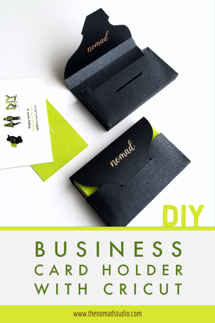 Business Card Holder with Cricut