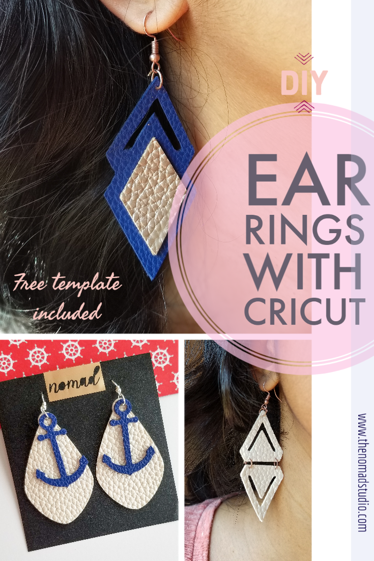 Modern Leather Earrings with Cricut