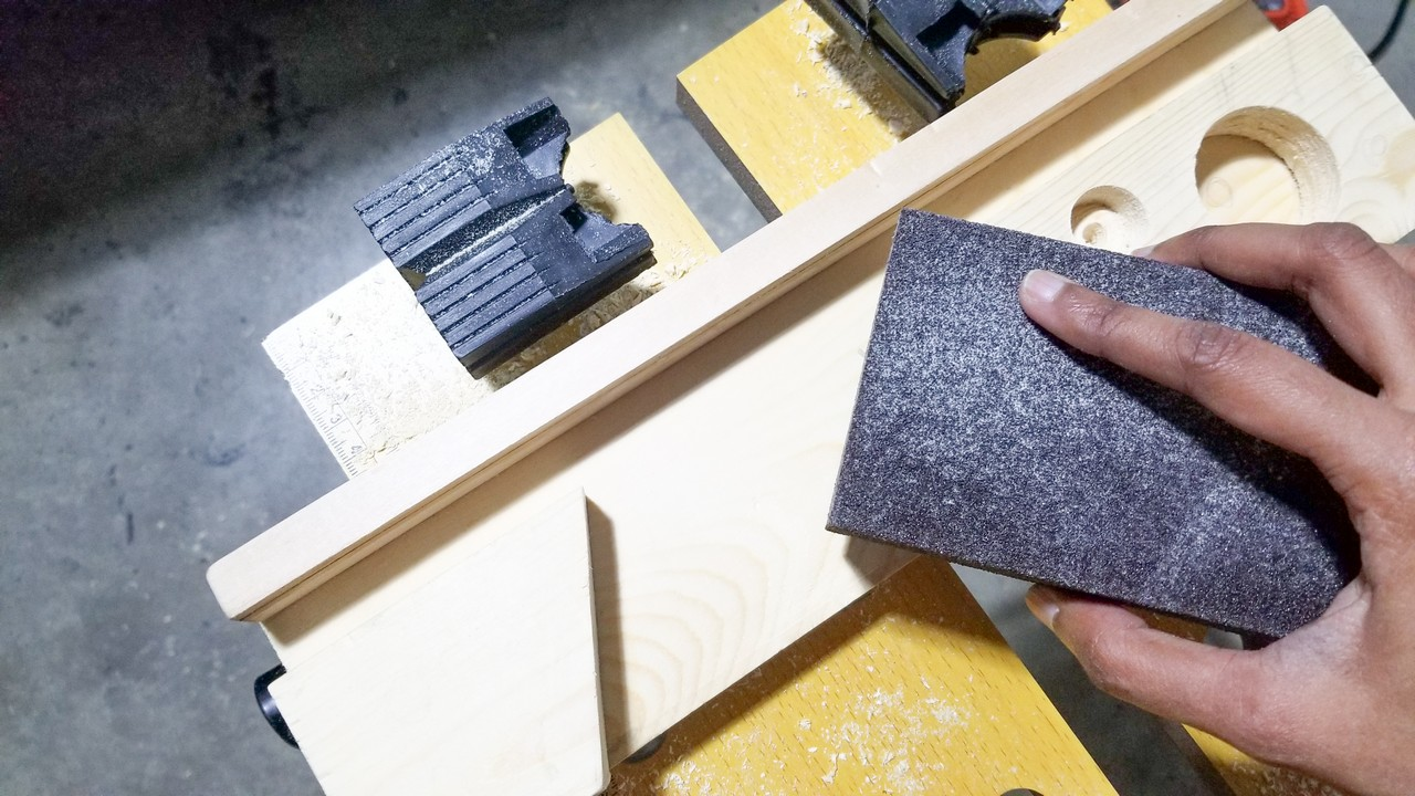 DIY Desk Organizer with scrap wood