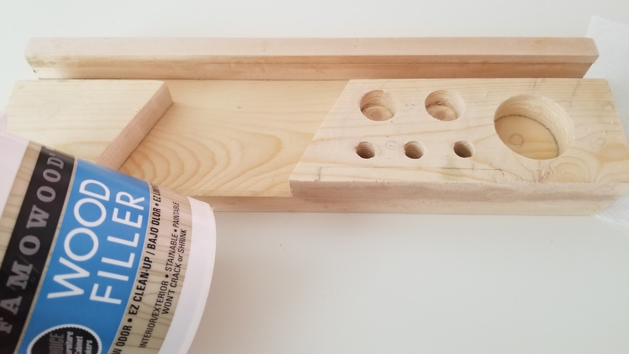 DIY Desk Organizer with scrap wood