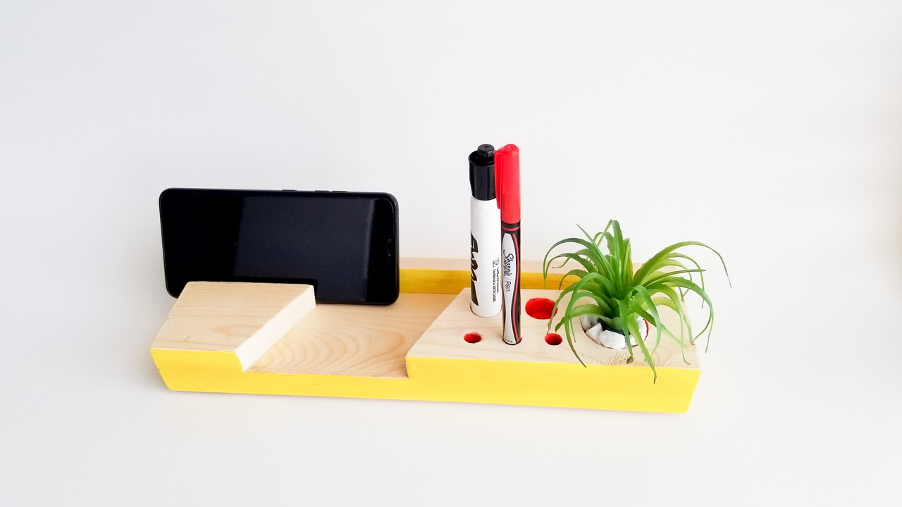 DIY Desk Organizer from scrap wood