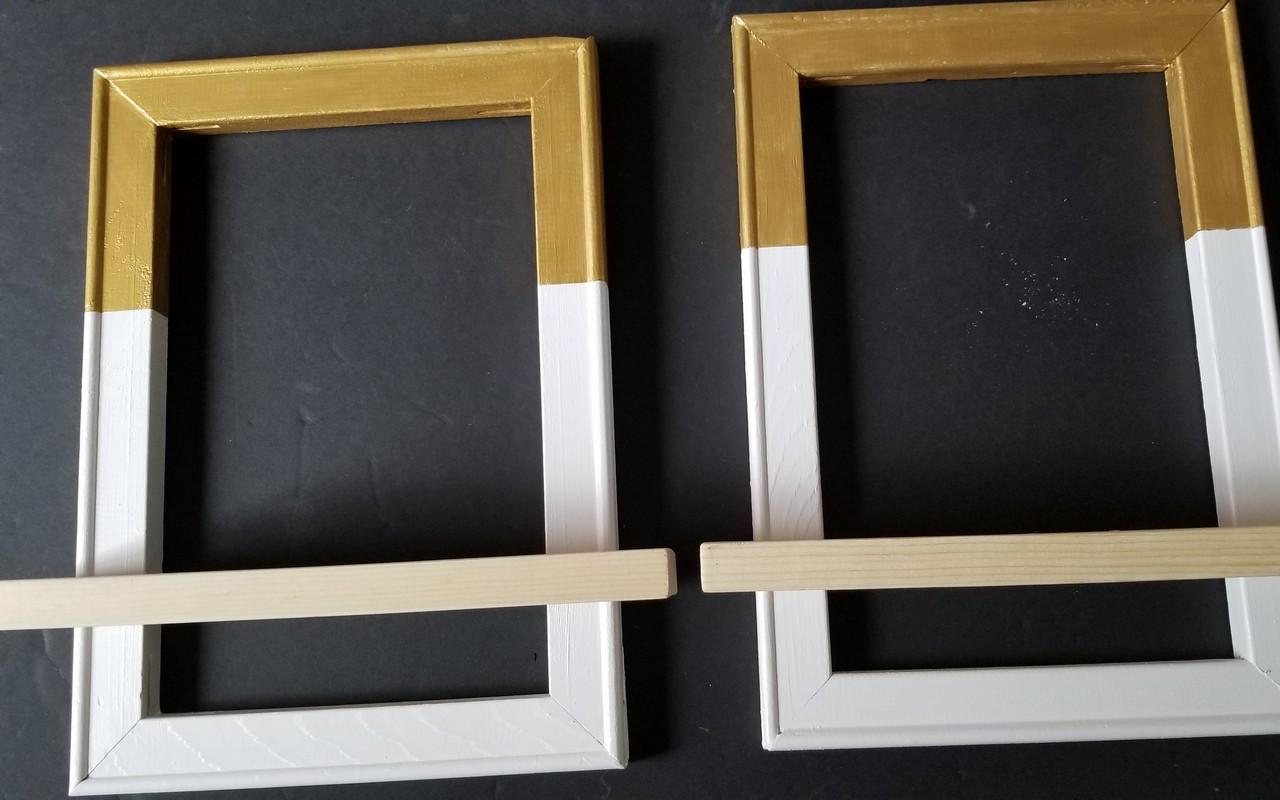 Up-cycle Wood Frame into wall Shelf & Light