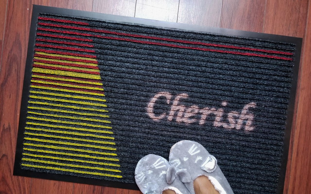 Indoor Entrance Mat Makeover