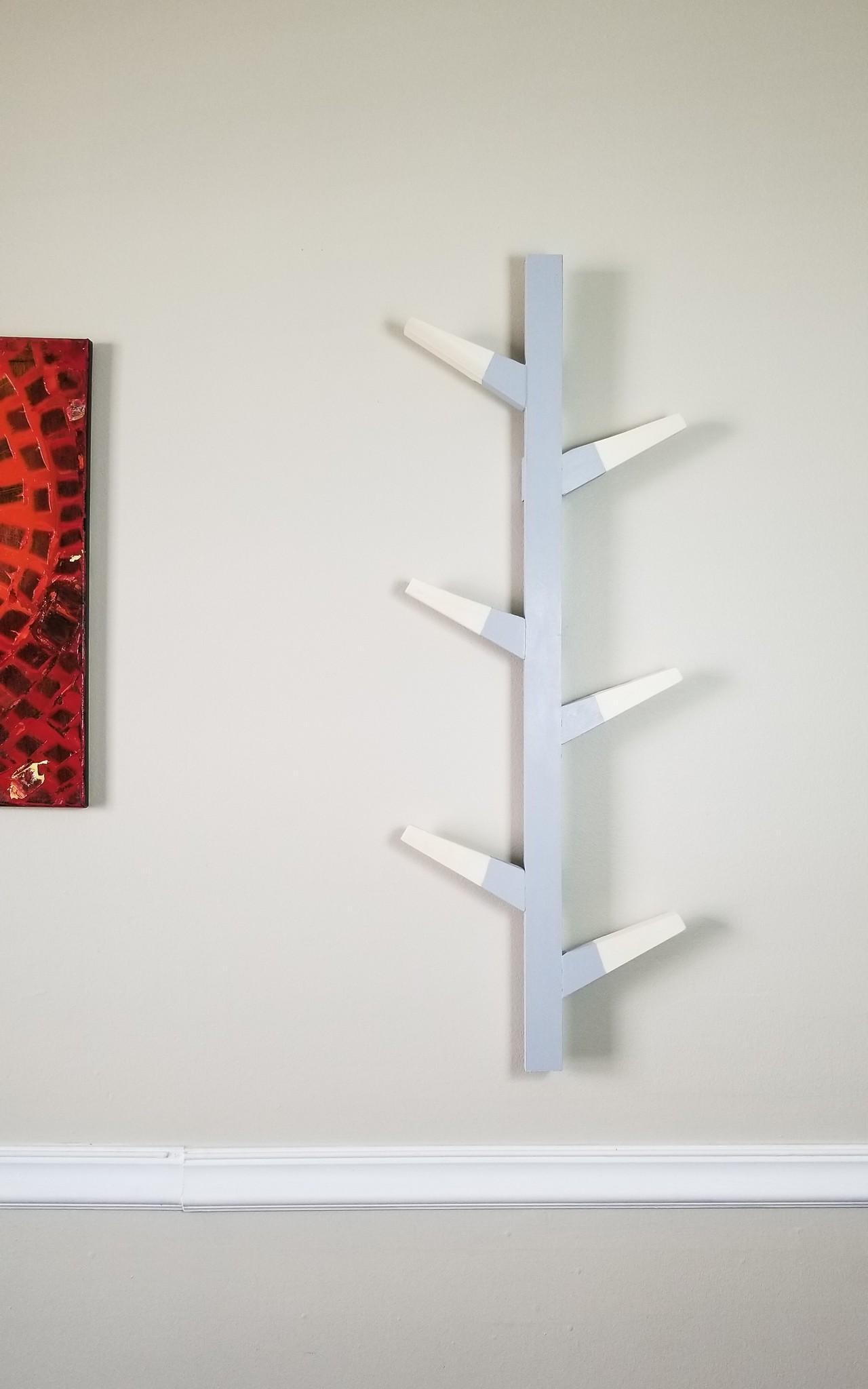 DIY Vertical Wall mounted Coat Hanger