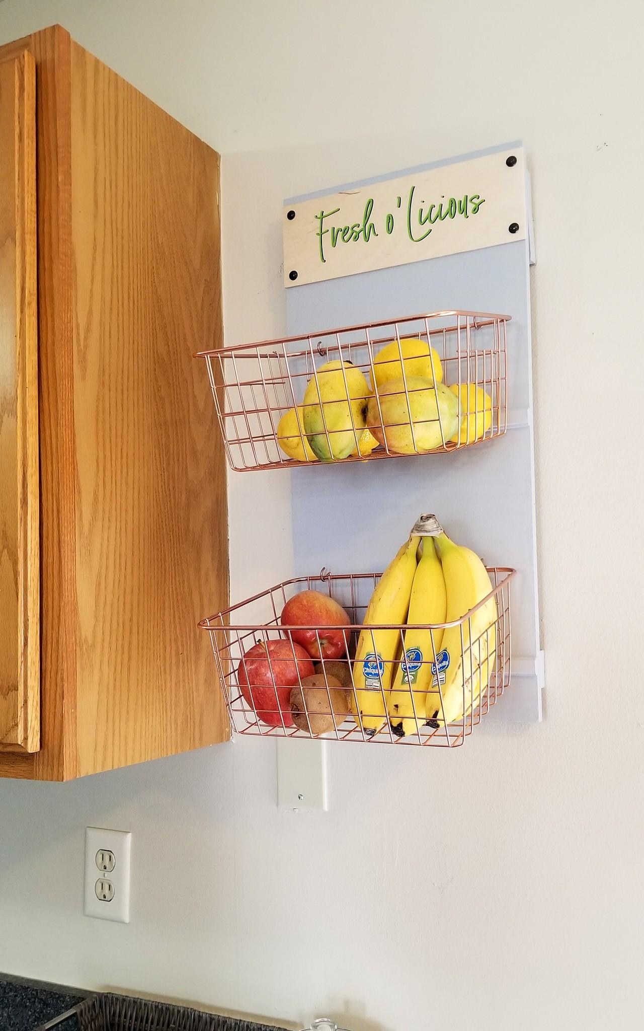 Wall mounted Fruit & Veggie Storage
