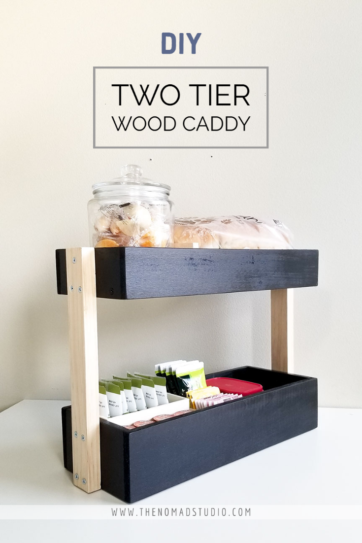 Two Tier Wood Caddy