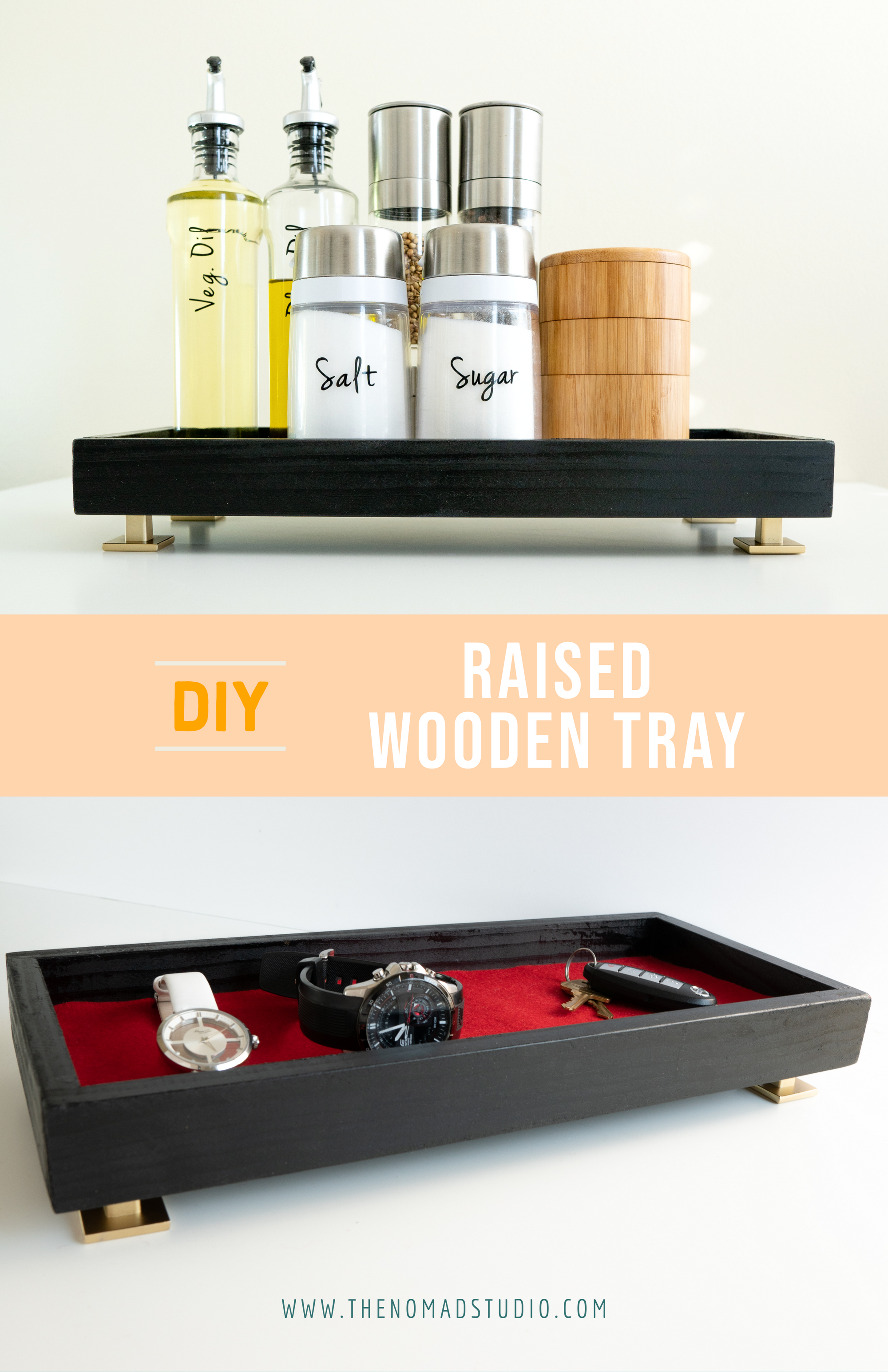 DIY Raised Wooden Tray