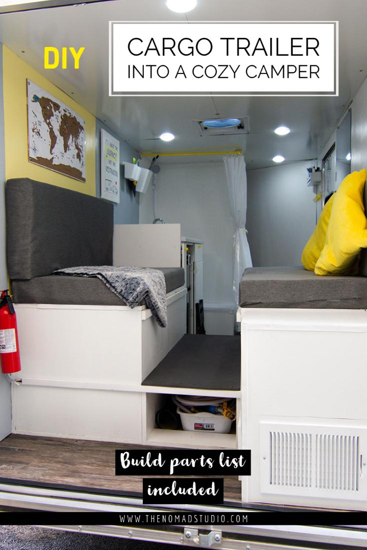 Cargo trailer into a travel Camper – Design, build & Parts list