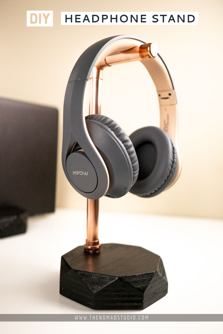 DIY Geometric Headphone stand