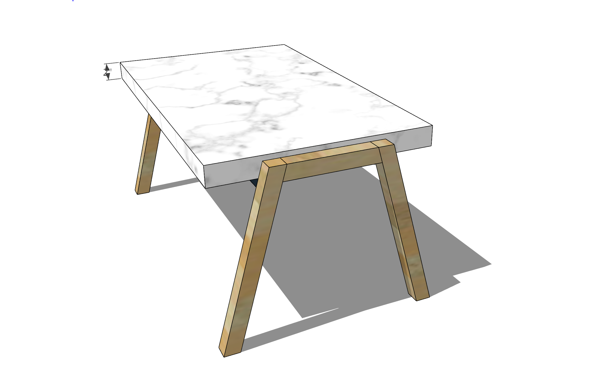 DIY White and Gold Marble Epoxy Coffee table