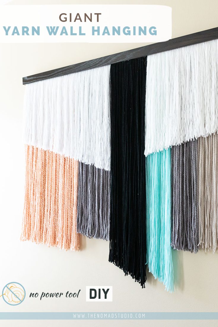 DIY Giant wall hanging decor with yarn