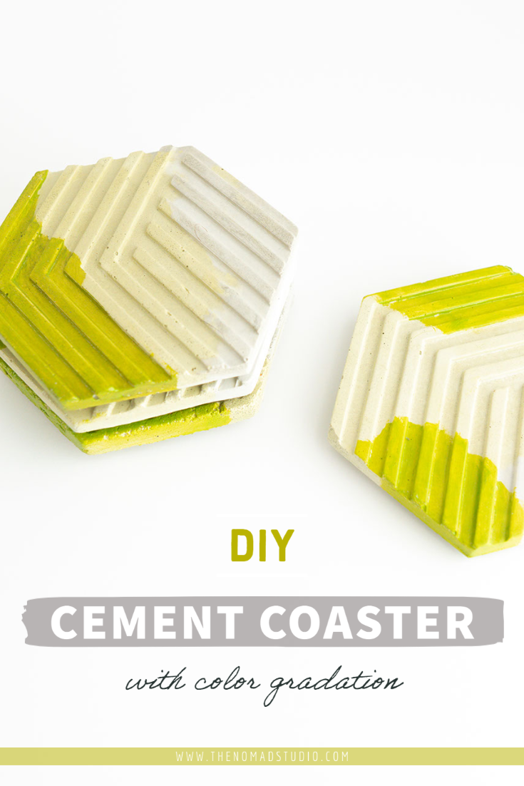 DIY Coasters with cement