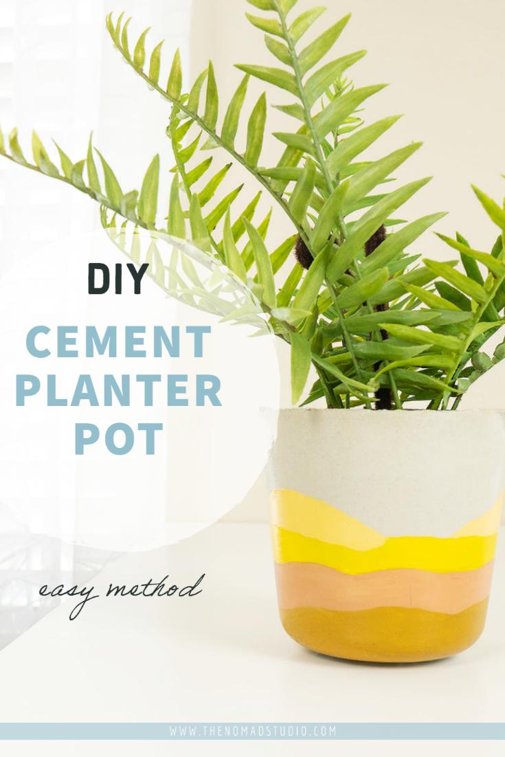 DIY Cement Planter Pot