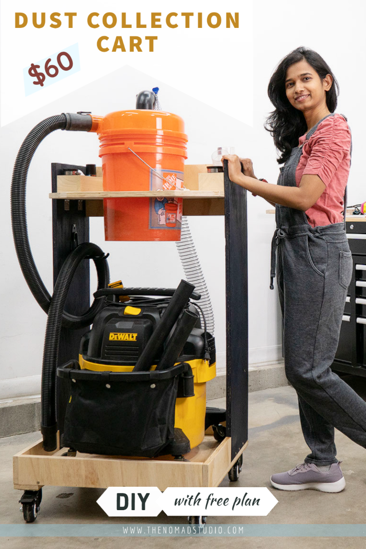 DIY Dust collection cart with vacuum and cyclone separator