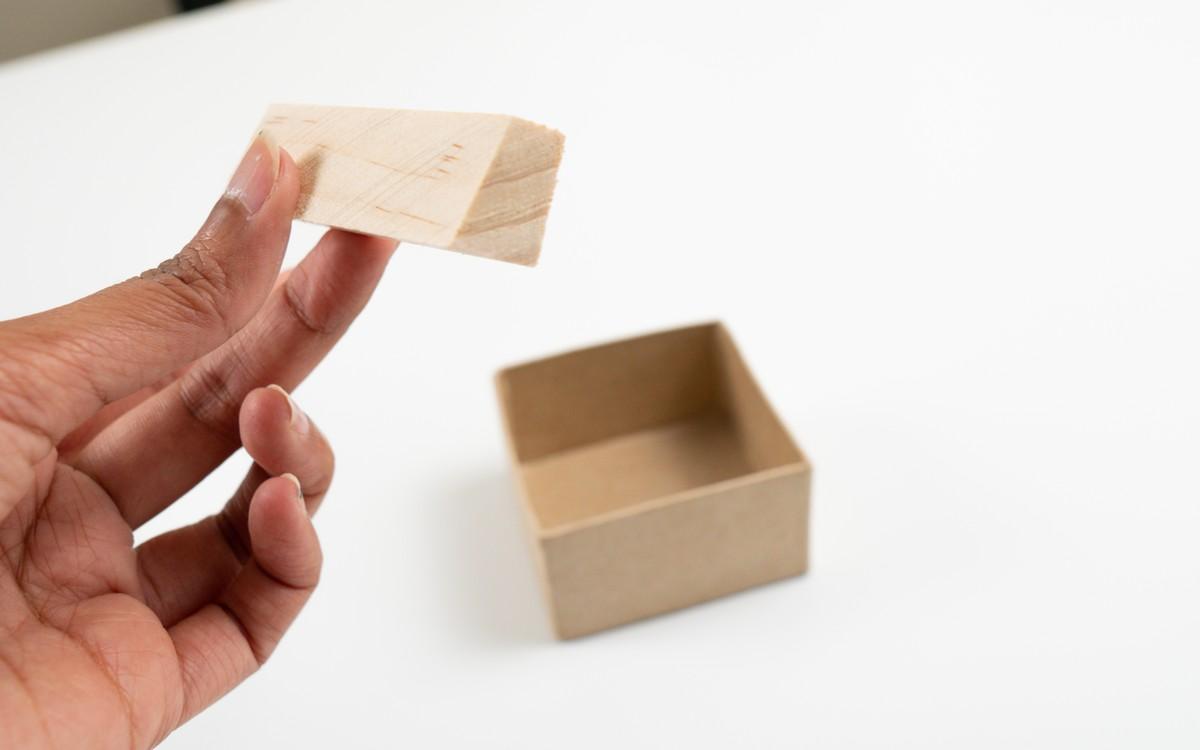 DIY Cement Business card holder